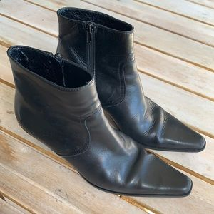 Coach Alexis Black Leather Ankle Boots